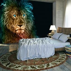 Fototapeta – Abstrakcyjny lew