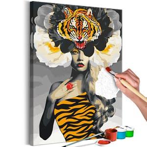 Obraz do samodzielnego malowania – Oko tygrysa – 40×60