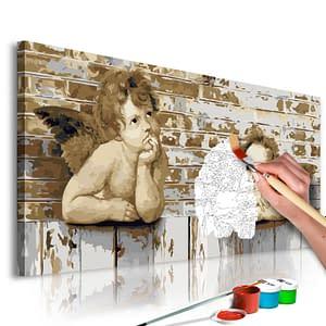 Obraz do samodzielnego malowania – Aniołki Rafaela – 80×40