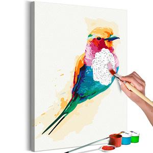 Obraz do samodzielnego malowania – Egzotyczny ptak – 40×60