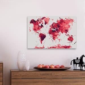 Obraz do samodzielnego malowania – Akwarelowa mapa – 60×40