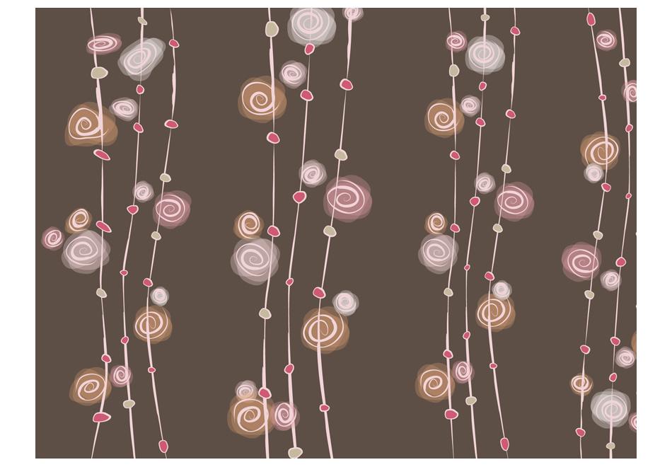 Fototapeta – wzór: abstrakcja – róże