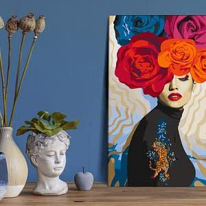 Obraz do samodzielnego malowania – Tygrys na ramieniu – 40×60