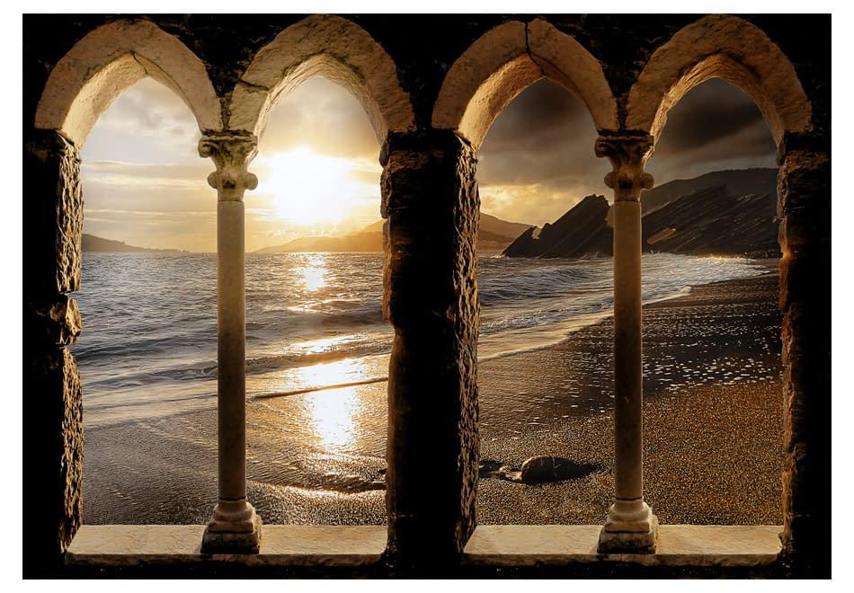 Fototapeta samoprzylepna – Zamek na plaży