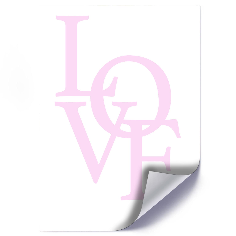 Plakat RÓŻOWE LOVE