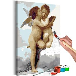 Obraz do samodzielnego malowania – Aniołki (miłość) – 40×60