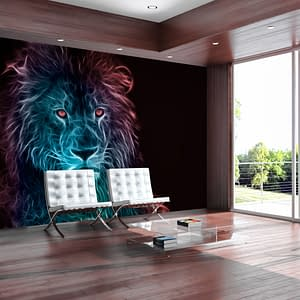 Fototapeta – Abstrakcyjny lew – tęcza