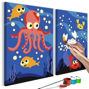 Obraz do samodzielnego malowania – Na dnie oceanu – 33×23
