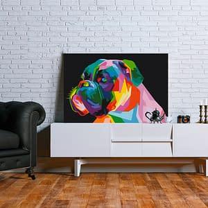 Obraz do samodzielnego malowania – Kolorowy bokser – 60×40
