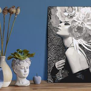 Obraz do samodzielnego malowania – Srebrna księżniczka – 40×60