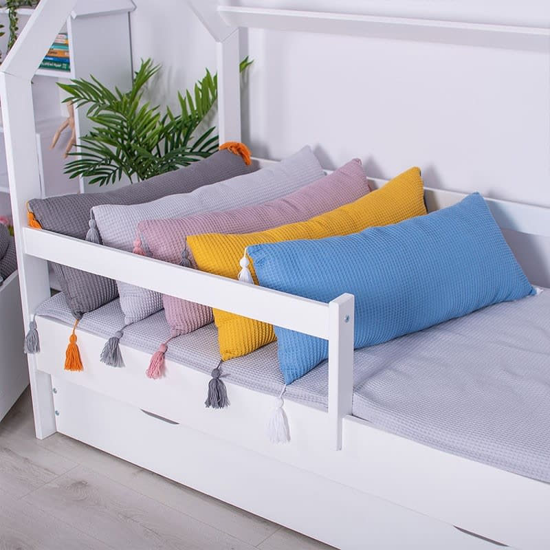 Długie poduszki wafel z chwostami - 5 kolorów do wyboru