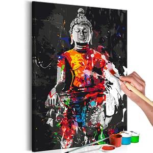 Obraz do samodzielnego malowania – Budda w kolorach – 40×60