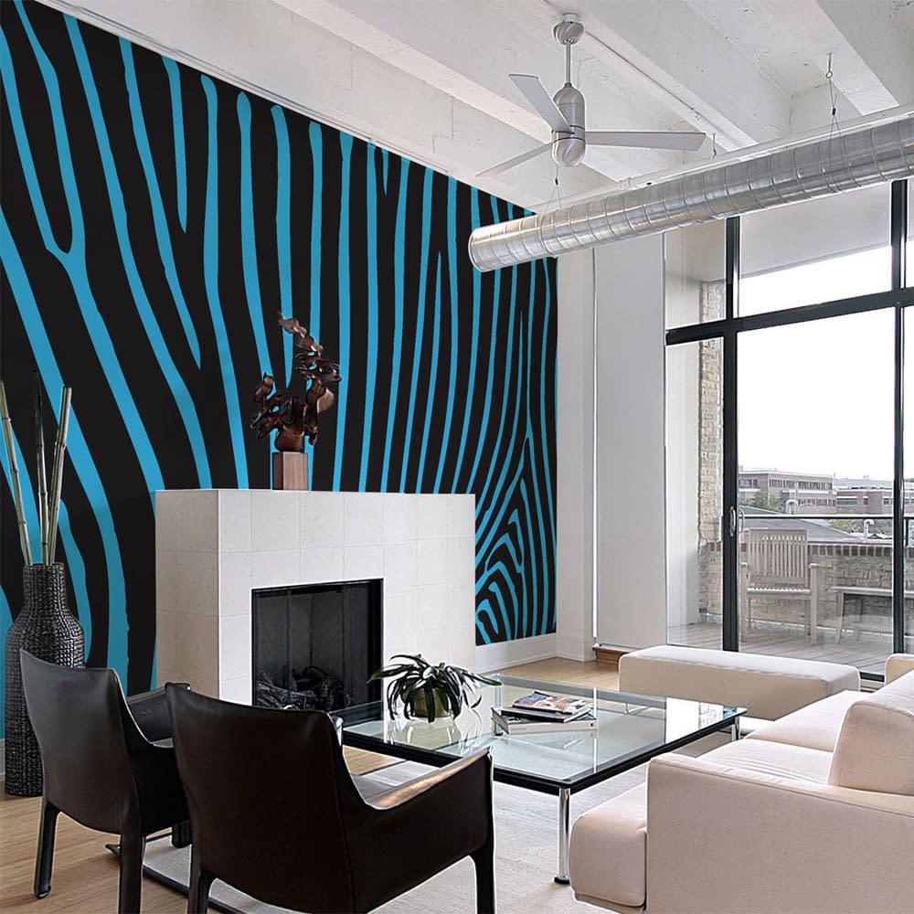 Fototapeta – Zebra pattern (turkus)