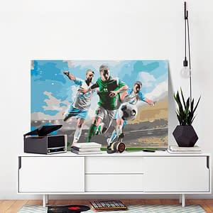 Obraz do samodzielnego malowania – Rywalizacja – 60×40