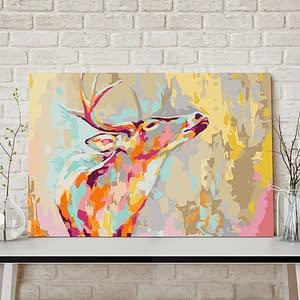 Obraz do samodzielnego malowania – Dumny jeleń – 60×40