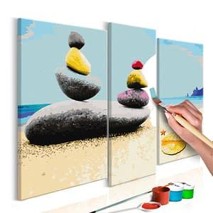 Obraz do samodzielnego malowania – Wakacyjna plaża – 110×90