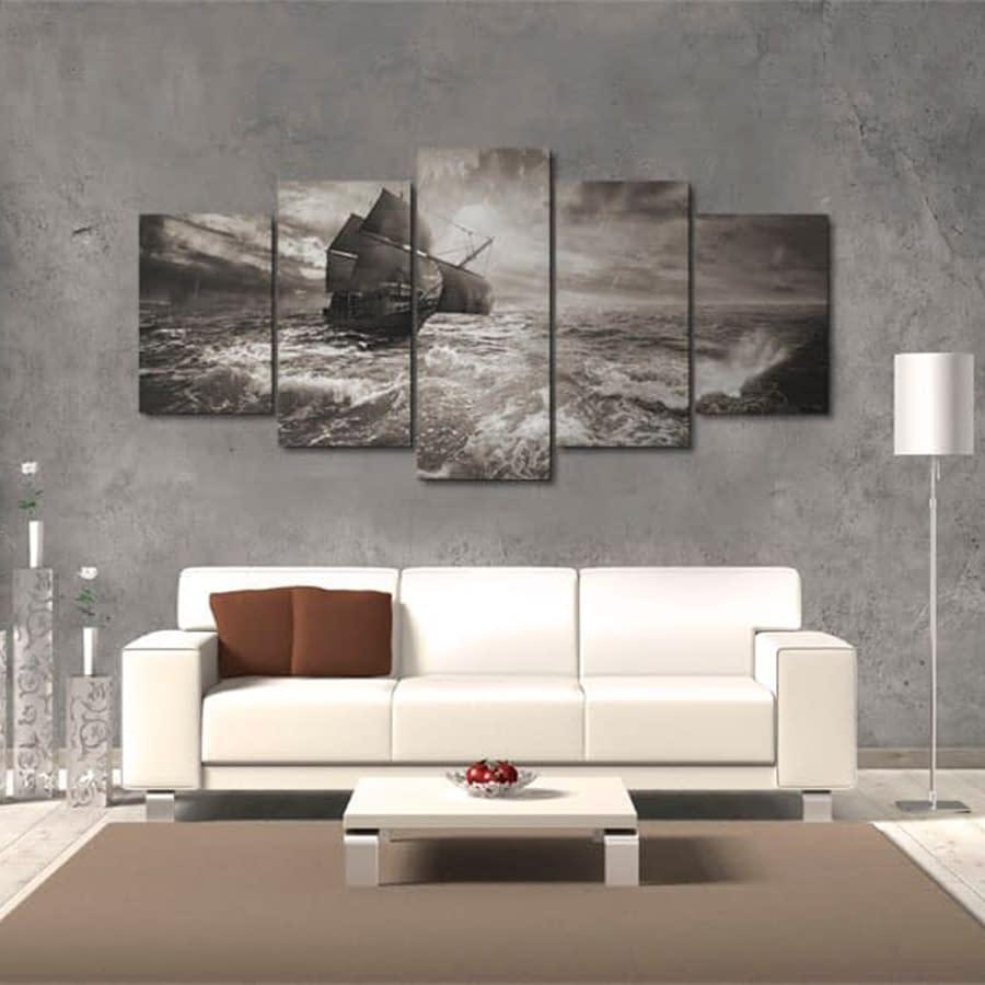 Obraz – Okręt podczas sztormu