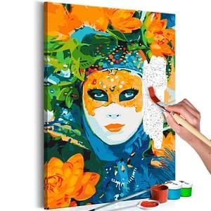 Obraz do samodzielnego malowania – Wenecka maska – 40×60