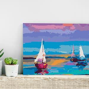 Obraz do samodzielnego malowania – Morski pejzaż – 60×40