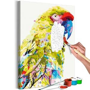 Obraz do samodzielnego malowania – Tropikalna papuga – 40×60