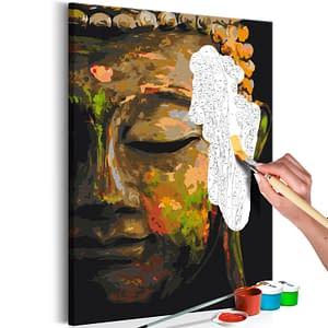 Obraz do samodzielnego malowania – Budda w cieniu – 40×60