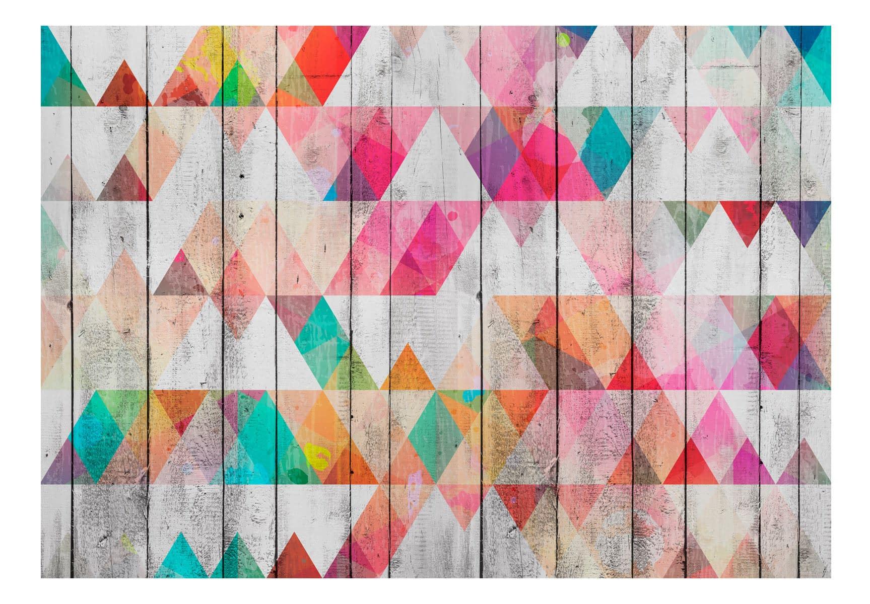 Fototapeta samoprzylepna – Tęczowe trójkąty