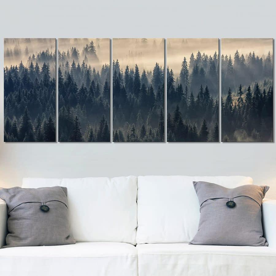 Obraz – Jodły we mgle