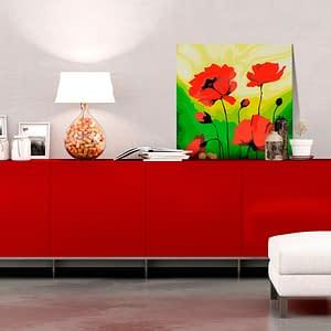 Obraz do samodzielnego malowania – Poppies – 45×45
