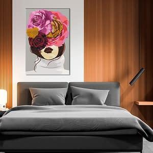 Obraz do samodzielnego malowania – Zasłonięte oczy – 40×60