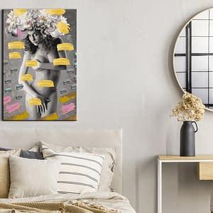 Obraz do samodzielnego malowania – Akt w kwiatach – 40×60