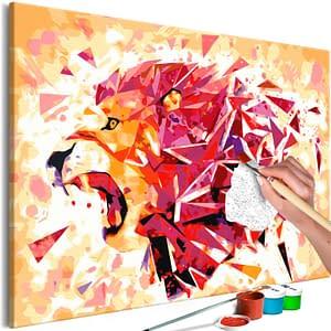Obraz do samodzielnego malowania – Abstrakcyjny lew – 60×40