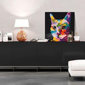 Obraz do samodzielnego malowania – Kot w plamki – 40×40