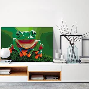 Obraz do samodzielnego malowania – Roześmiana żaba – 60×40