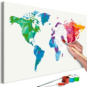 Obraz do samodzielnego malowania – Kolory Świata – 60×40