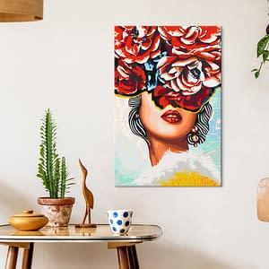 Obraz do samodzielnego malowania – Słodkie usta – 40×60