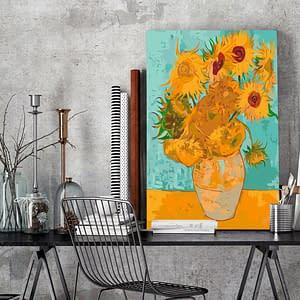 Obraz do samodzielnego malowania – Słoneczniki Van Gogha – 40×60