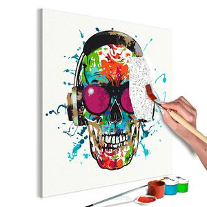 Obraz do samodzielnego malowania – Disc Jockey – 40×40