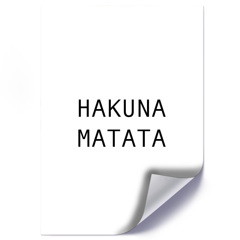 Plakat HAKUNA MATATA