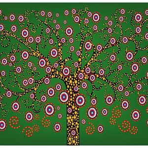 Fototapeta – abstrakcja: drzewo (zielony)