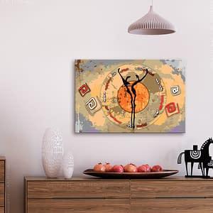 Obraz do samodzielnego malowania – Afrykański taniec – 60×40