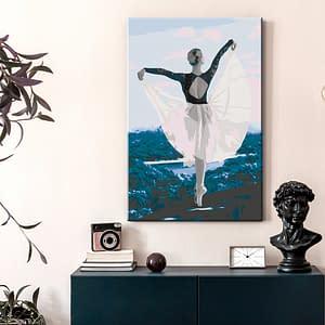 Obraz do samodzielnego malowania – Baletnica w plenerze – 40×60