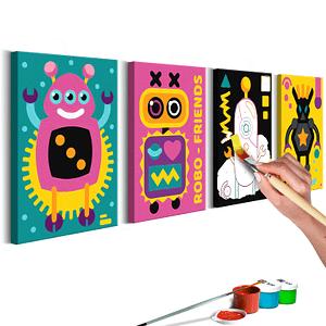 Obraz do samodzielnego malowania – Roboty – 44×16.5