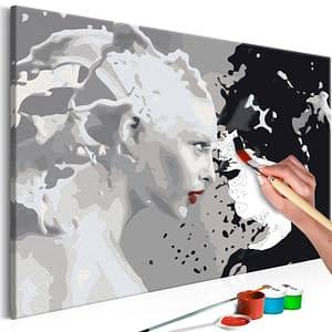 Obraz do samodzielnego malowania – Black & White – 60×40
