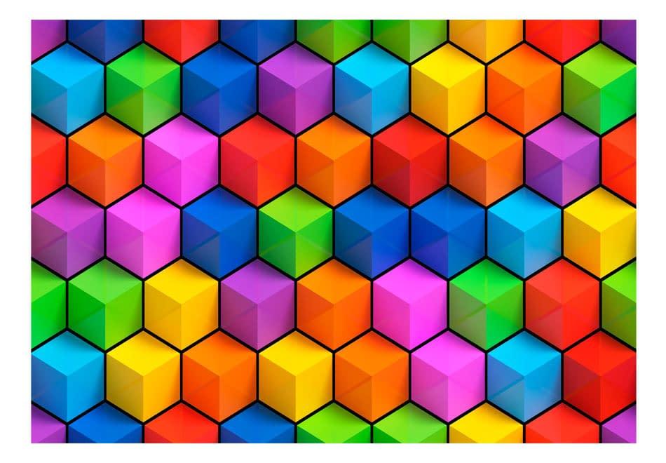 Fototapeta samoprzylepna – Tęczowa geometria