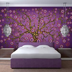 Fototapeta – abstrakcja: drzewo (fioletowy)
