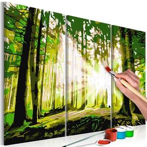 Obraz do samodzielnego malowania – Las (Wiosna) – 120×80